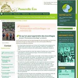 Ce qu'on peut apprendre des écovillages - Annexe à Permaculture et écovillage un - Permaculture et Écovillages - un(...)