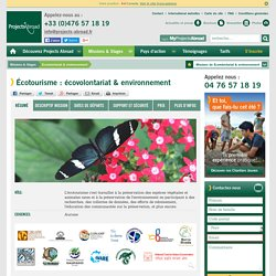 Ecovolontariat, stage environnement, volontariat animaux, stage nature, eco-tourisme