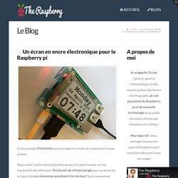 Un écran en encre électronique pour le Raspberry pi