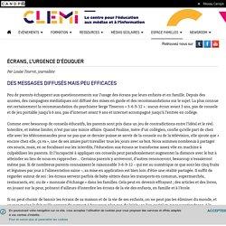 Écrans, l'urgence d'éduquer- CLEMI