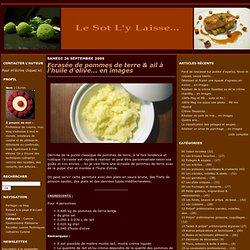 Ecrasée de pommes de terre & ail à l'huile d'olive