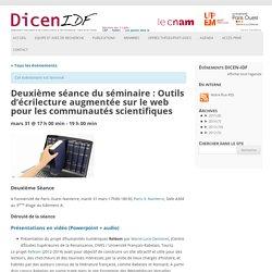 Deuxième séance du séminaire : Outils d'écrilecture augmentée sur le web pour les communautés scientifiques