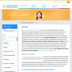 Supports pour l'apprentissage de l'écriture manuscrite pour DYS