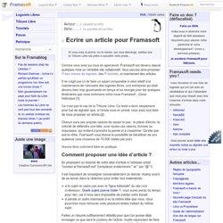 Ecrire un article pour Framasoft - A propos du site