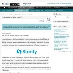 Ecrire avec le web. Storify - Atelier Canopé de l'Essonne