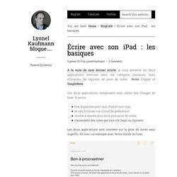Écrire avec son iPad : les basiques