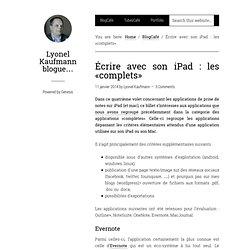 Écrire avec son iPad : les «complets»