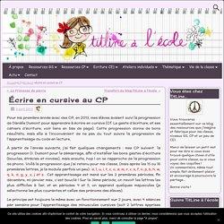 Écrire en cursive au CP