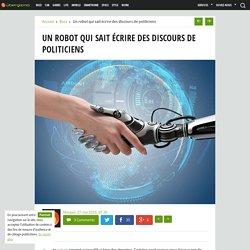Un robot qui sait écrire des discours de politiciens