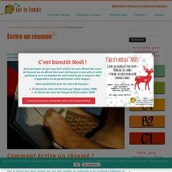 Écrire un résumé à partir du niveau B1 en français langue étrangère