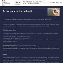Écrire pour un journal radio