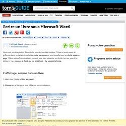 Ecrire un livre sous Microsoft Word