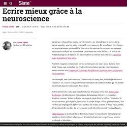 Ecrire mieux grâce à la neuroscience
