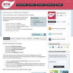 Ecrire pour le Web et le Mobile