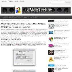 Mac NTFS : comment écrire sur un disque ou une partition Windows ?