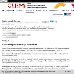 Écrire pour informer- CLEMI