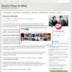 Ecrire pour le Web mobile