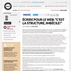 """Écrire pour le web: """"c'est la structure, imbécile!"""""""