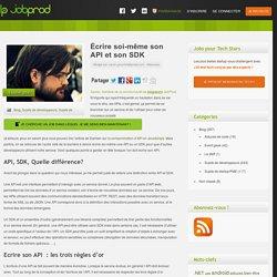 Écrire soi-même son API et son SDK