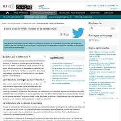 Twitter et la twittérature