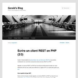 Ecrire un client REST en PHP (2/3)