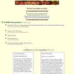 Ecrire une lettre en latin