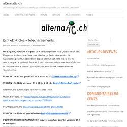 EcrireEnPictos – téléchargements – alternatic.ch