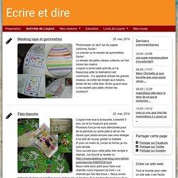 Activités de Loupiot - ecrireetdire.simplesite.com