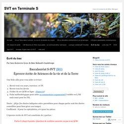 SVT en Terminale S