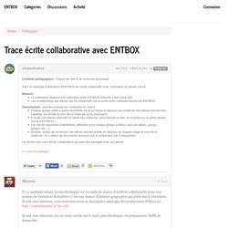 Trace écrite collaborative avec ENTBOX - ENTBox