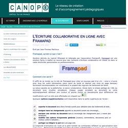 L'écriture collaborative en ligne avec Framapad