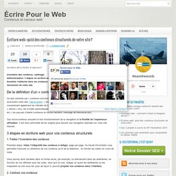 Écriture web: quid des contenus structurels de votre site