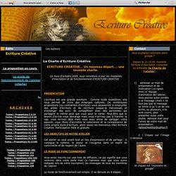 La Charte d'Ecriture Créative - Atelier d'écriture créative