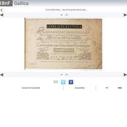 Livre d'écriture... escrit et gravé par Louis... - Gallica mobile website