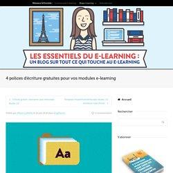 4 polices d'écriture gratuites pour vos modules e-learning