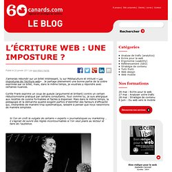 L'écriture web : une imposture ?