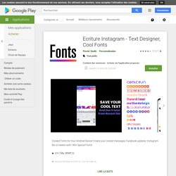 Ecriture Instagram - Text Designer, Cool Fonts