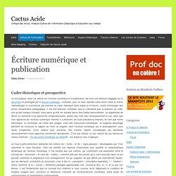 Écriture numérique et publication