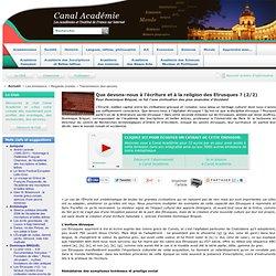 Que devons-nous à l'écriture et à la religion des Etrusques ? (2/2)