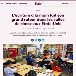 L'écriture à la main fait son grand retour dans les salles de classe aux États-Unis