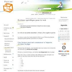 Écriture spécifique pour le web - PYRAT.net, Agence Web Dordogne, Périgord (24), Aquitaine, France