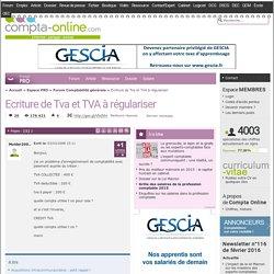 Ecriture de Tva et TVA à régulariser
