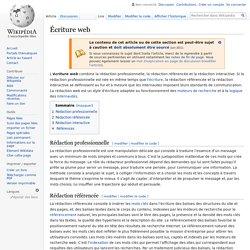 Écriture web