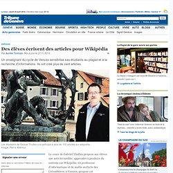 Versoix: Des élèves écrivent des articles pour Wikipédia - News Genève: Actu genevoise