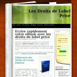 Ecrivez votre eBook rapidement avec les DLP