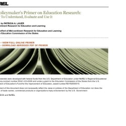 A Policymaker's Primer on Education Research