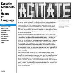 Ecstatic Alphabets/Heaps of Language