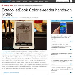 Ectaco jetBook Color e-reader hands-on (video)