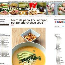 Locro de papa or Ecuadorian potato soup