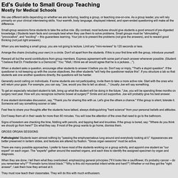 Ed's Guide to Small Group Teaching